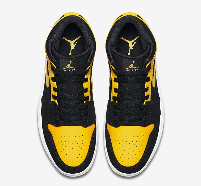nike air jordan 1 jaune noir