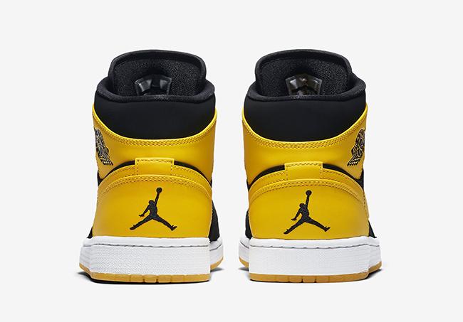 quality design aa272 11b92 air-jordan-1-mid-new-love-black-yellow-