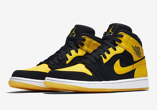 air jordan 1 mid jaune orange