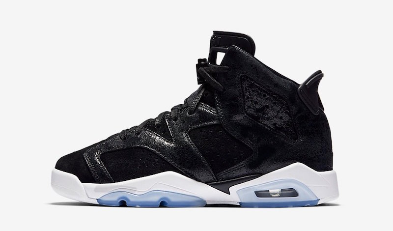 Air Jordan 6 GS Heiress Black Suede