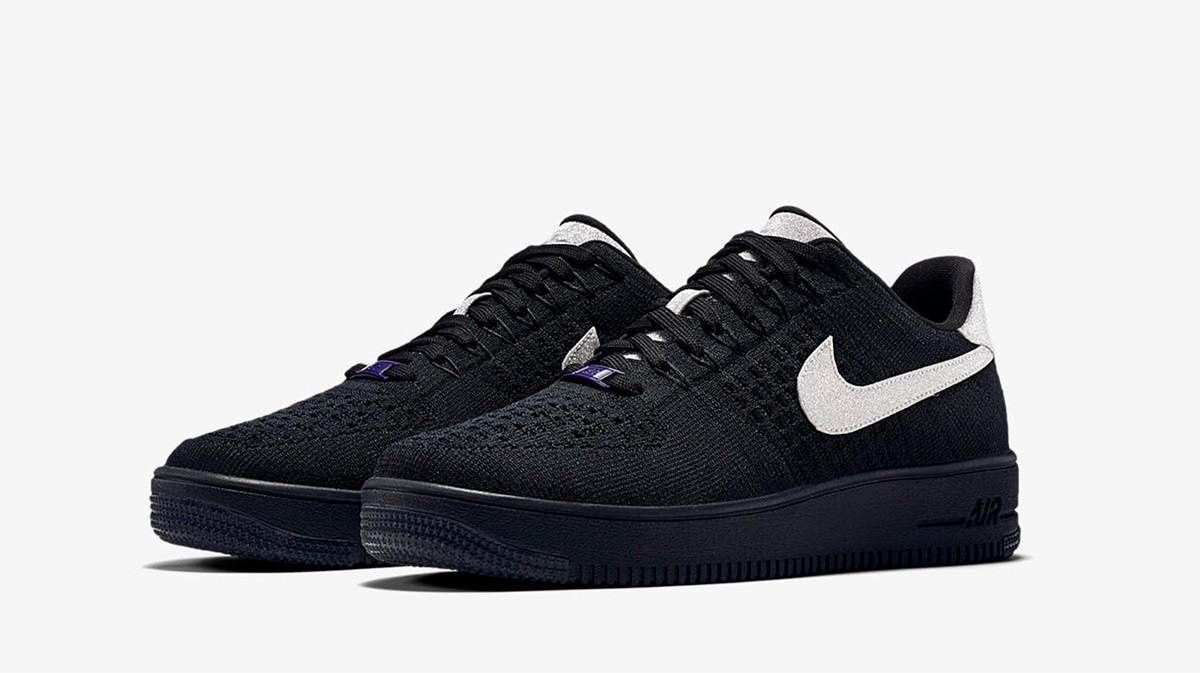 temperament shoes good quality fashion styles Nike Air Force 1 Ultra Flyknit Black Silver - Le Site de la ...