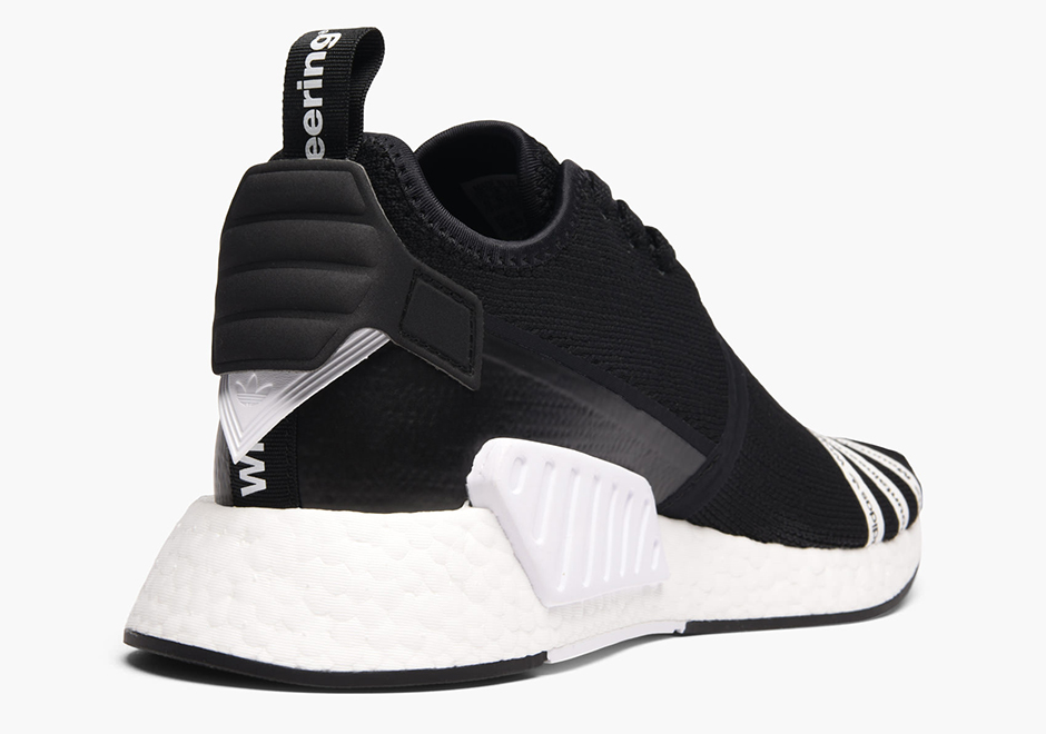 reputable site ed5f6 f02d0 White Mountaineering x adidas NMD R2 Black