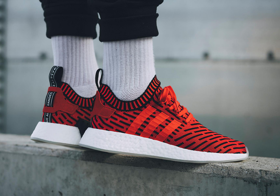 adidas NMD_R2 Primeknit Core Red