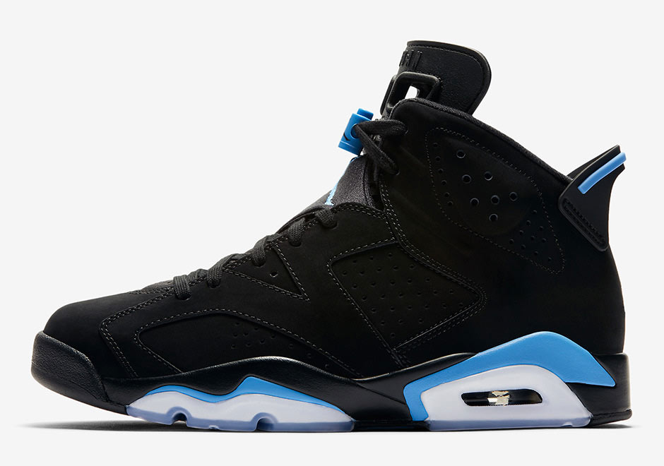 air jordan vi black/university blue