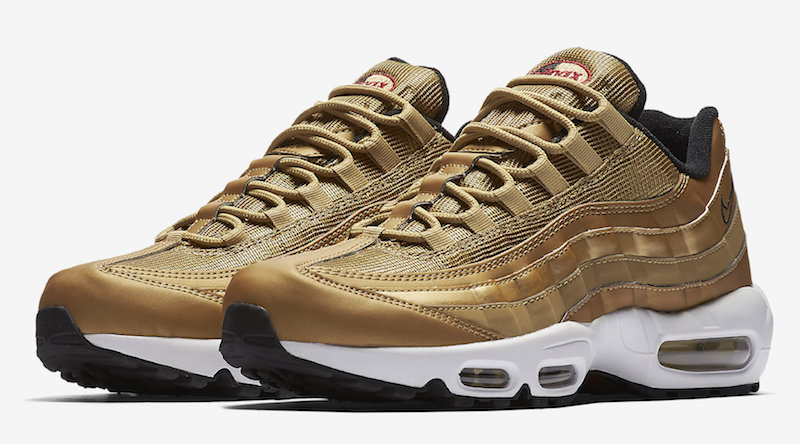 Nike Air Max 95 Metallic Gold - Le Site de la Sneaker 489e97235bf6