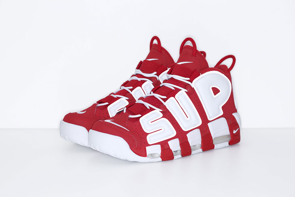 Supreme X Nike Air More Uptempo Red - Le Site De La Sneaker