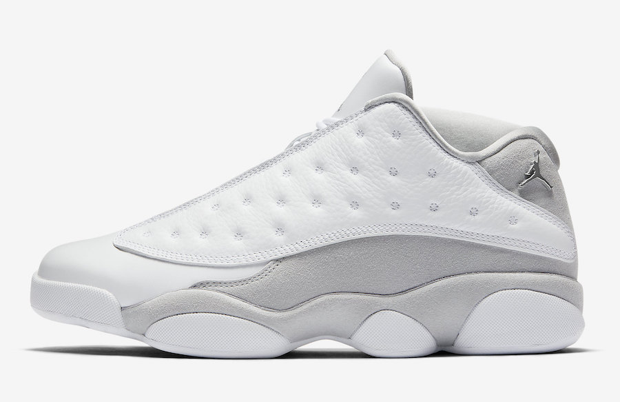 timeless design b933d 05996 Air Jordan 13 Low White Metallic