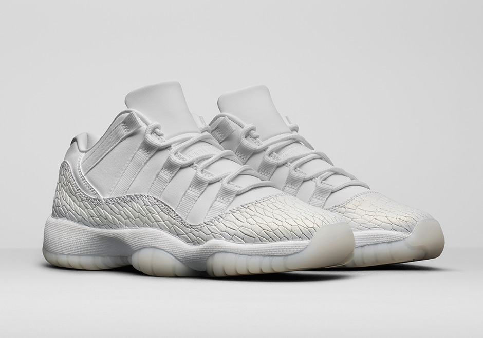 designer fashion 66ee7 e040c Air Jordan 11 Low GS Heiress White Pure Platinum