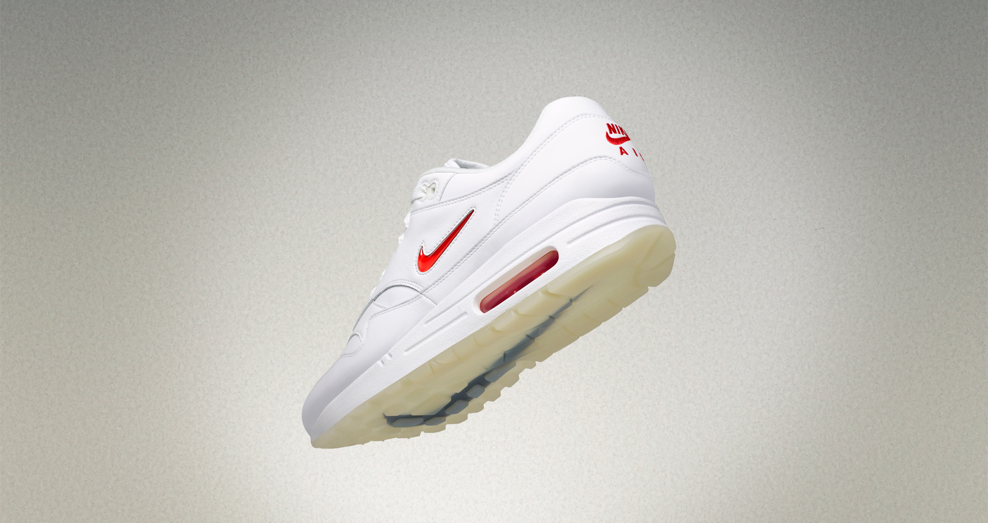 detailed look aeb85 c9c6b Nike Air Max 1 Jewel White Red