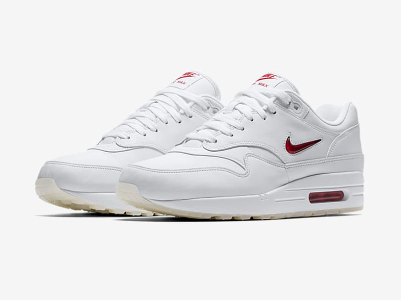 Nike Air Max 1 Jewel White Red