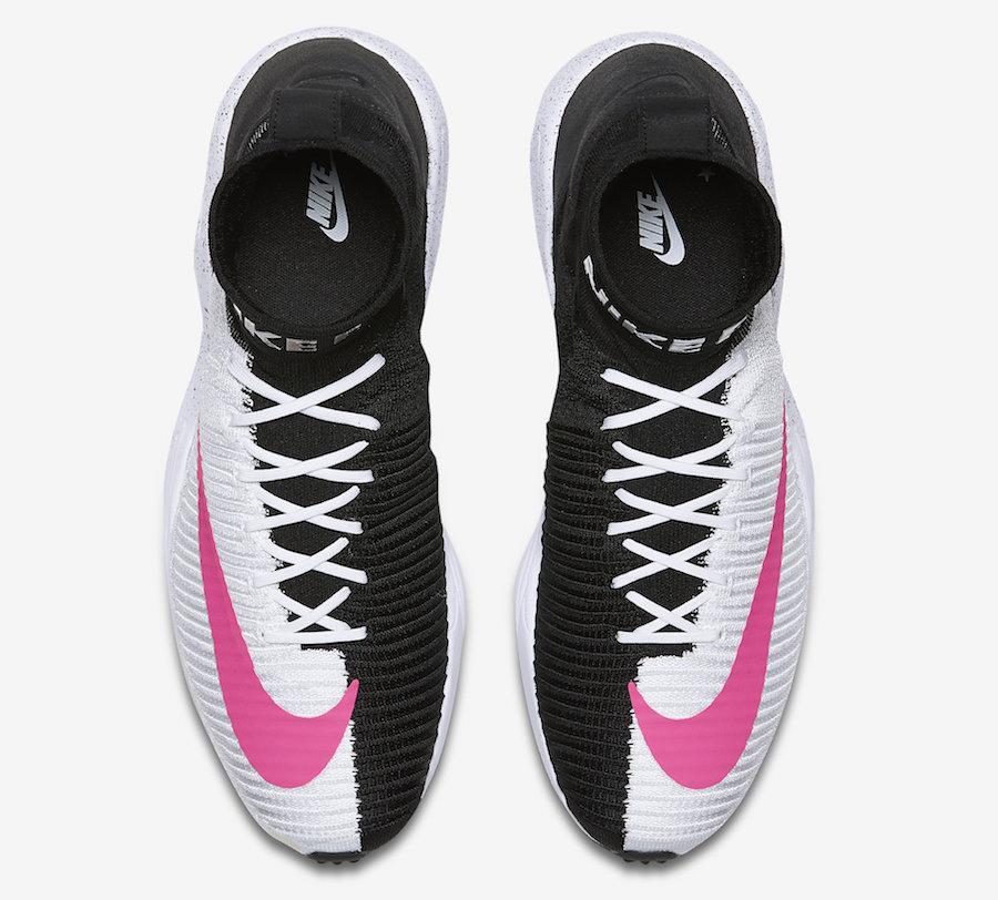 Nike Zoom Mercurial Flyknit IX FC Black White Pink Sneaker