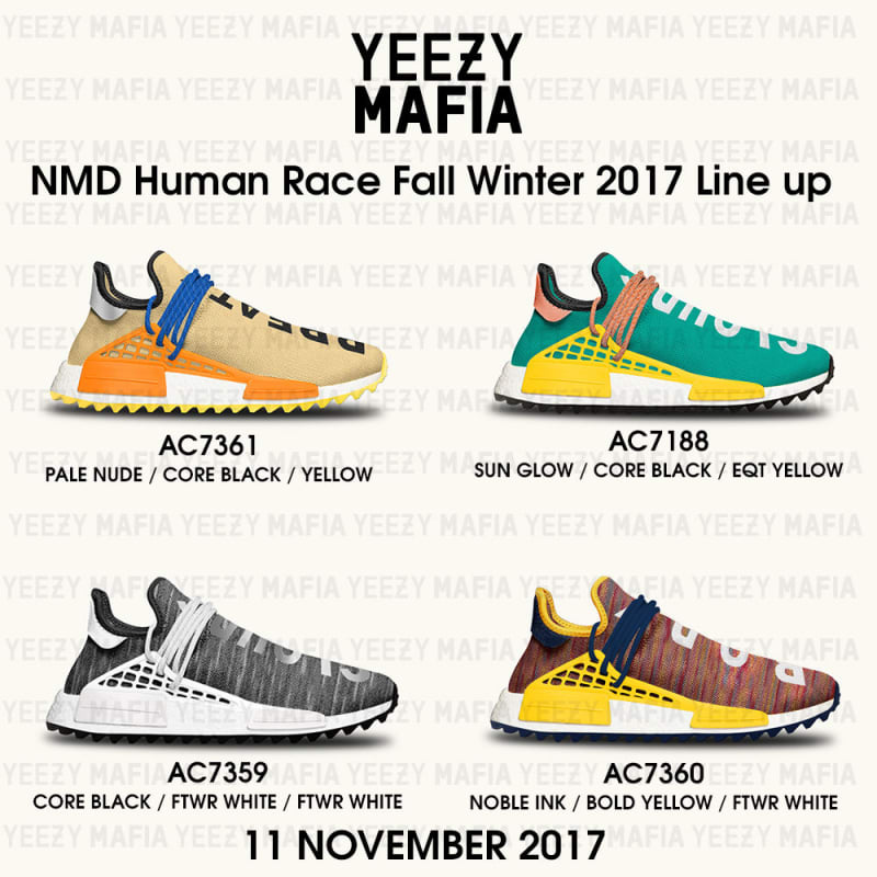 Pharrell x adidas NMD HU Trail Collection Novembre 2017 Le