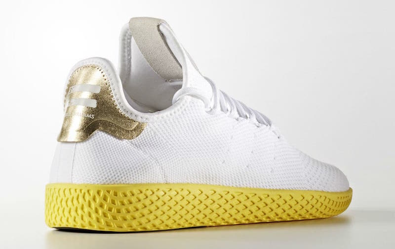 Pharrell x adidas Tennis HU White Yellow Gold