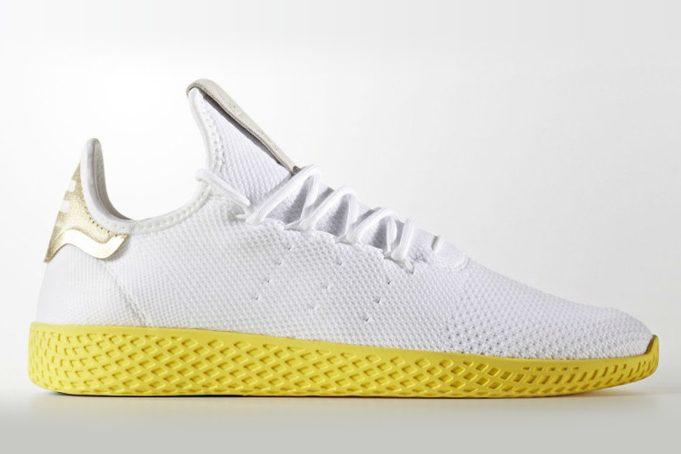 Adidas tennis hu Pharrell Williams BlancJaune Vinted