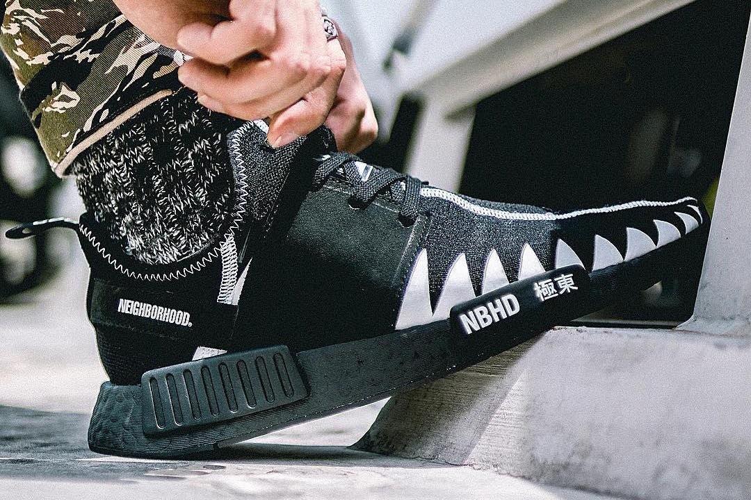 8d0428ed17c54 Preview  Neighborhood x adidas NMD Black Boost - Le Site de la Sneaker
