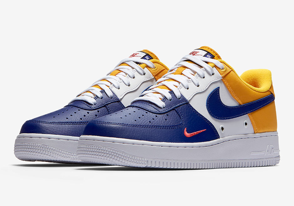 air force 1 jaune bleu blanc