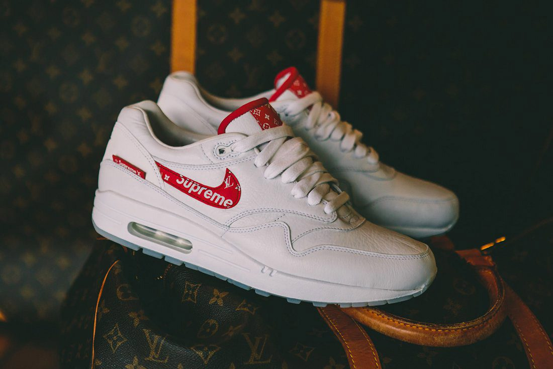 Sneaker custom: Louis Vuitton x Supreme x Nike Air Max 1