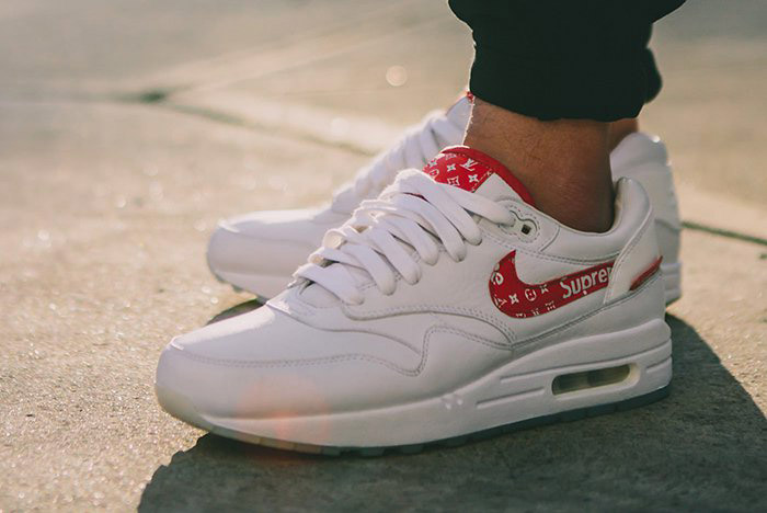 low price various styles differently Sneaker custom: Louis Vuitton x Supreme x Nike Air Max 1 ...