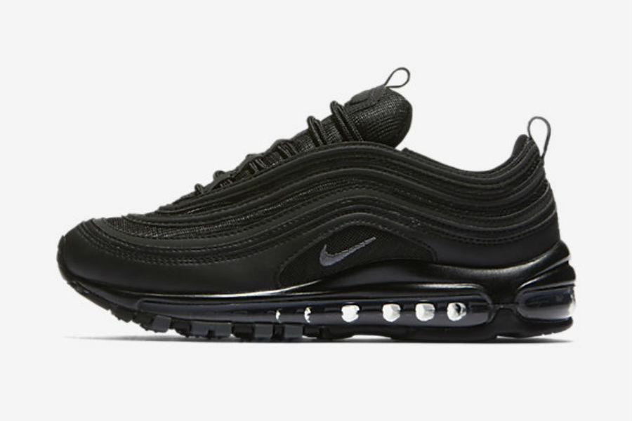 nike wmns air max 97 triple black le site de la sneaker. Black Bedroom Furniture Sets. Home Design Ideas