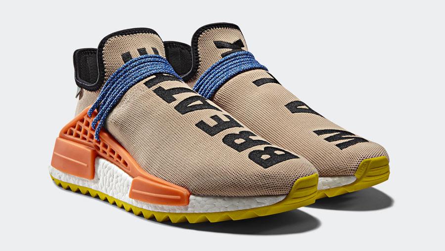 9596fedd3 Pharrell x adidas NMD HU Trail Pale Nude - Le Site de la Sneaker