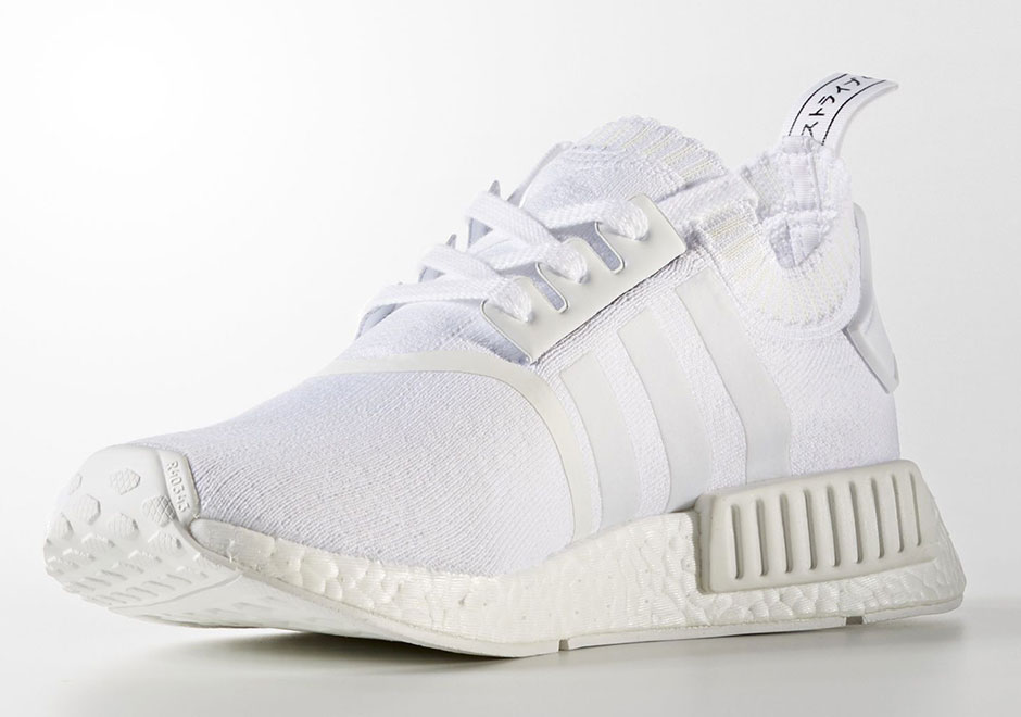 new styles 6682b a0bf6 adidas NMD R1 PK Japan Triple White