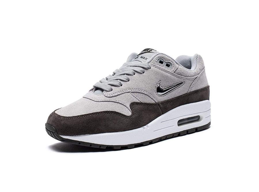 Nike Air Max 1 Premium SC Jewel Wolf Grey AA0512 002 Womens