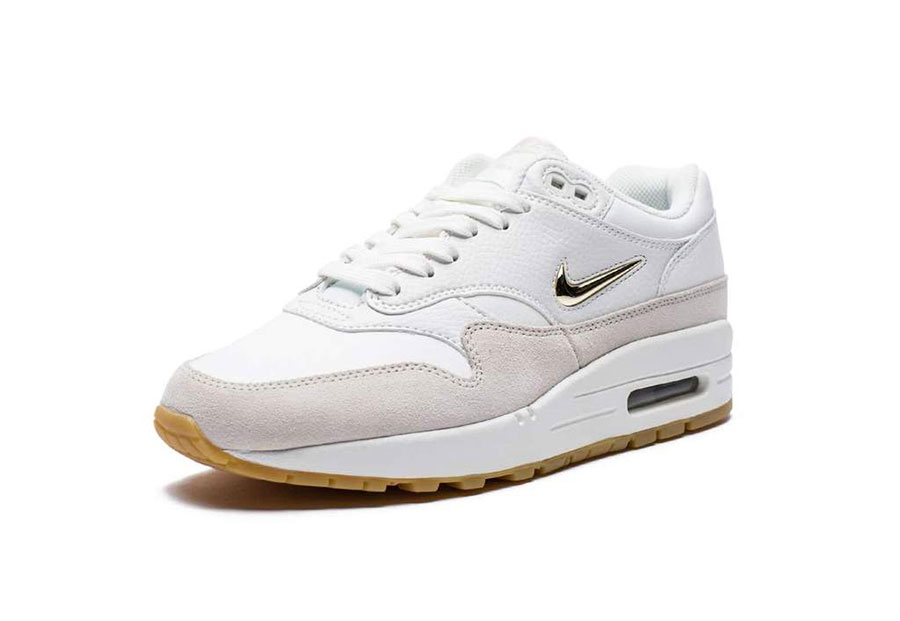 nike wmns air max 1 premium sc jewel summit white le site de la sneaker. Black Bedroom Furniture Sets. Home Design Ideas