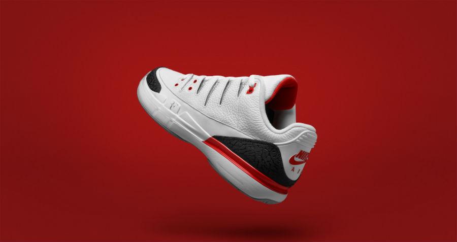 timeless design 03fdf c3fcf NikeCourt Zoom Vapor RF x AJ3 Fire Red