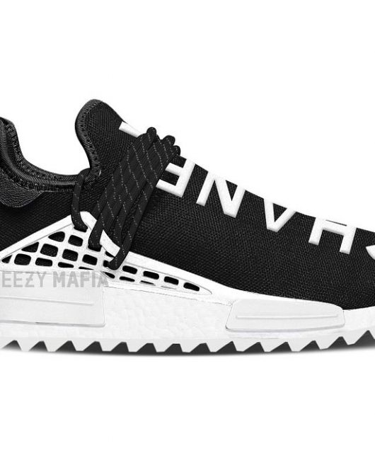 durable service Adidas Mens PW Human Race NMD Black/White