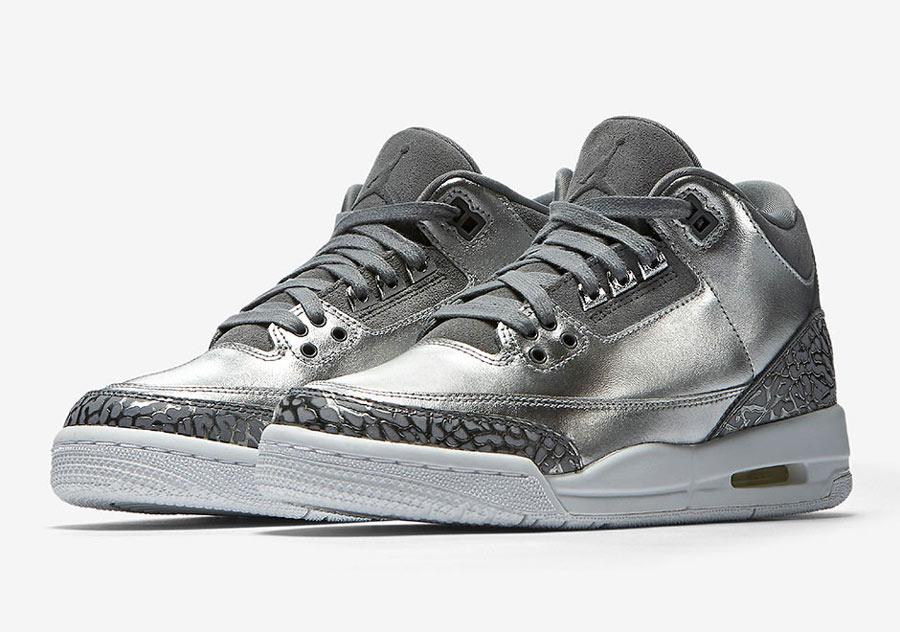 7ecdf83990666f Air Jordan 3 GS Premium HC Chrome - Le Site de la Sneaker