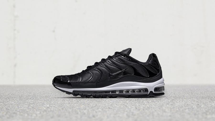 Plus Nike Max la Sneaker Noir de Le Air 97 Site Blanc pwTxPB