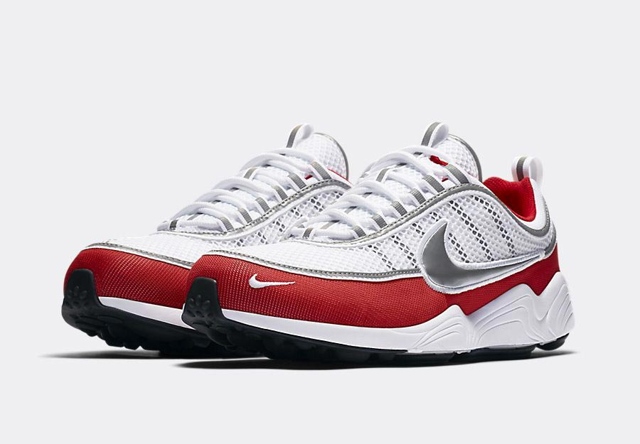 nike air zoom spiridon white silver red le site de la sneaker