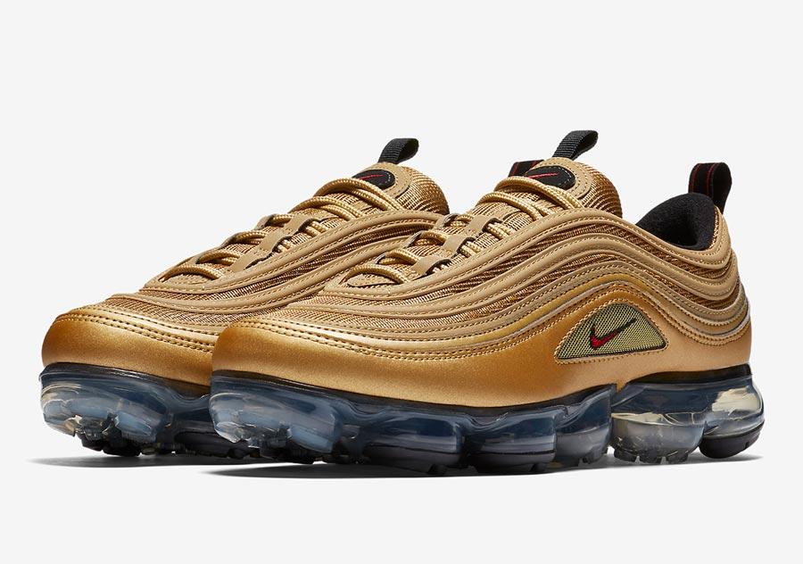 Nike Air VaporMax 97 Metallic Gold - Le Site de la Sneaker