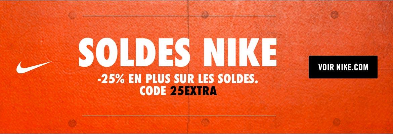buy online 65595 8bfec Pour bénéficier des -25% en plus, il suffit d entrer le code promo  25EXTRA  lors du paiement sur Nike.com. L opération est valable du vendredi 06  octobre au ...