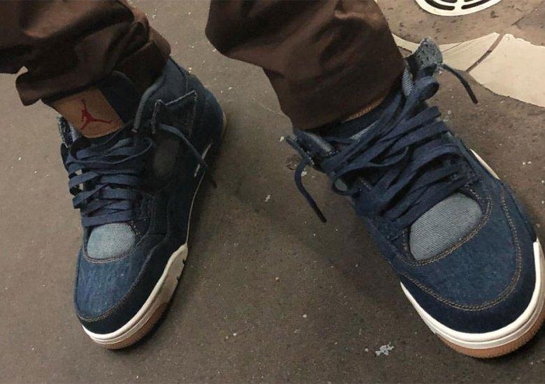 sports shoes e6f2d 2bd79 Une collab Levi's sur trois Air Jordan 4 en 2018 - Le Site ...