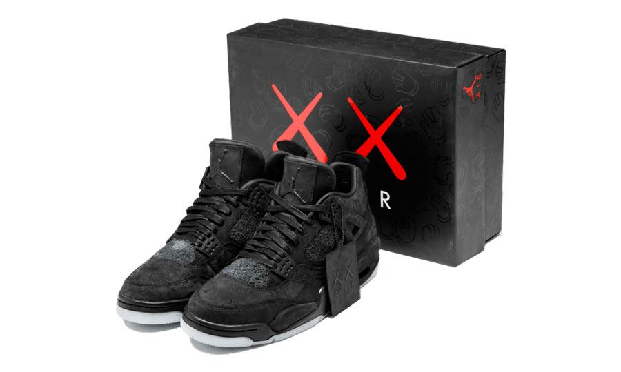 new product 331d9 cf63b Kaws x Air Jordan 4 Black