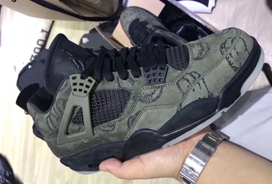 Confirme 4 La Que Fake Kaws Le Sneaker Olive Site Est Jordan De Air BoxrCed