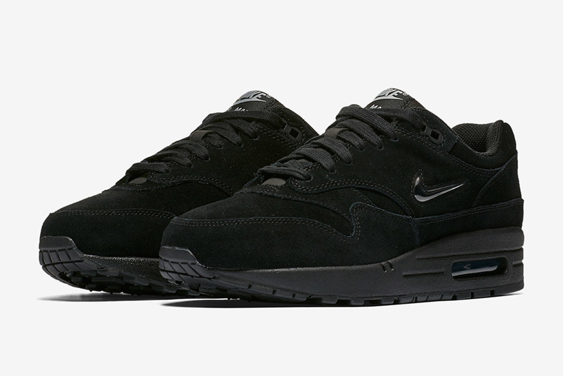 low priced 42090 aefe0 nike-air-max-1-jewel-black-suede-2
