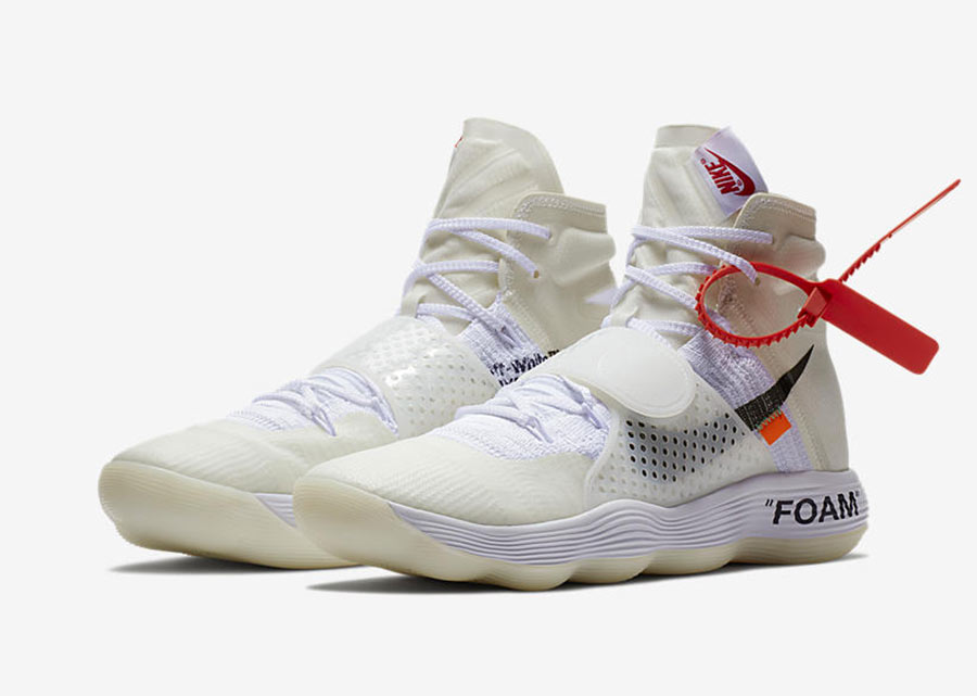 off white x nike react hyperdunk the ten le site de la sneaker. Black Bedroom Furniture Sets. Home Design Ideas