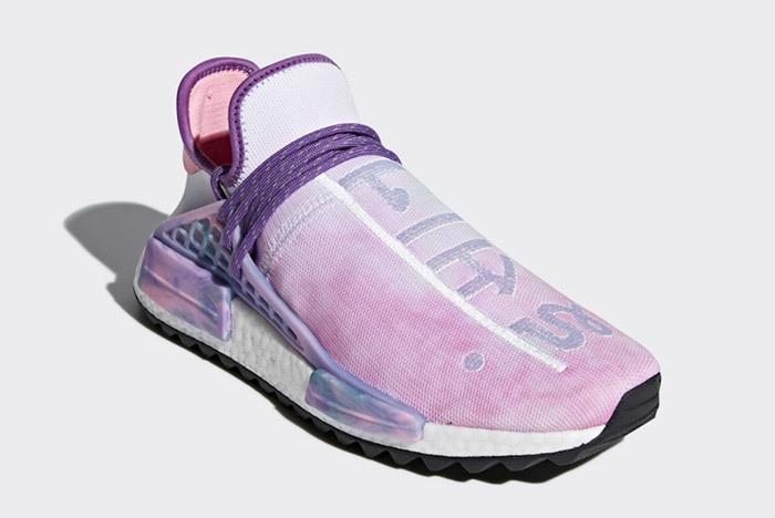 new style 1e3b9 458ed Pharrell x adidas NMD HU Holi MC Pink Glow