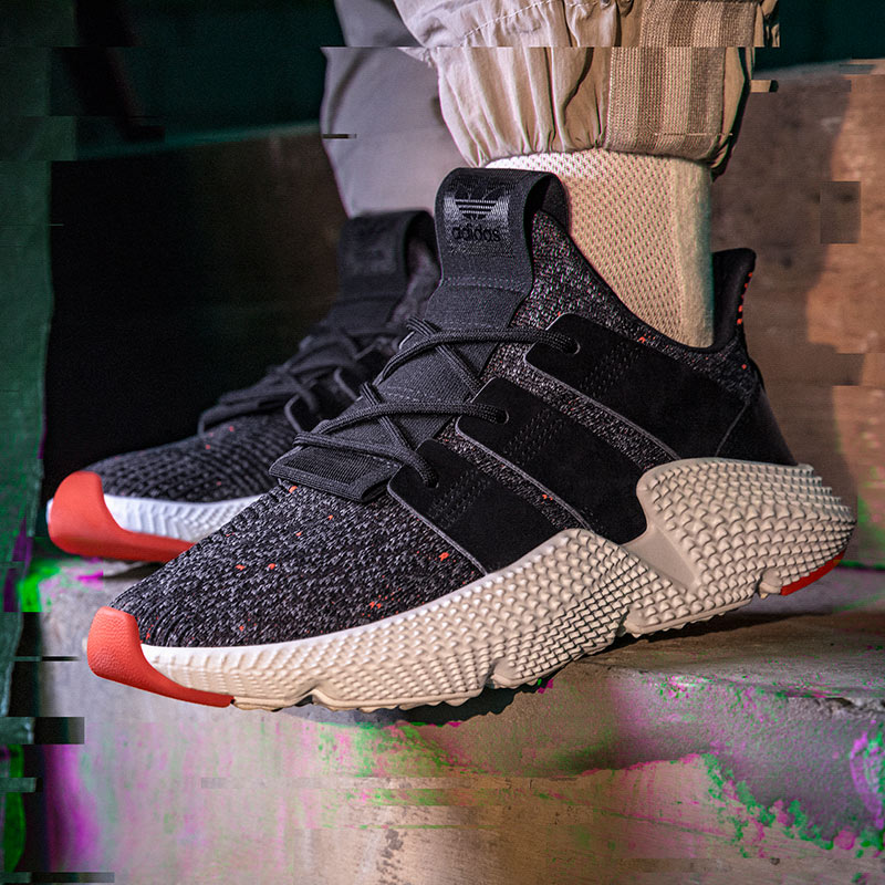 Mens Adidas Prophere Off White Shoes Red White