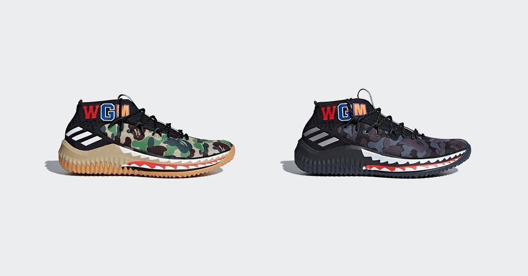 cheap for discount 958f2 207fc La pack Bape x adidas Dame 4 Camo arrivera en février 2018 dans toutes les  boutiques Bape, sur Adidas.com aux Etats-Unis et Bape.com, ainsi que chez  une ...
