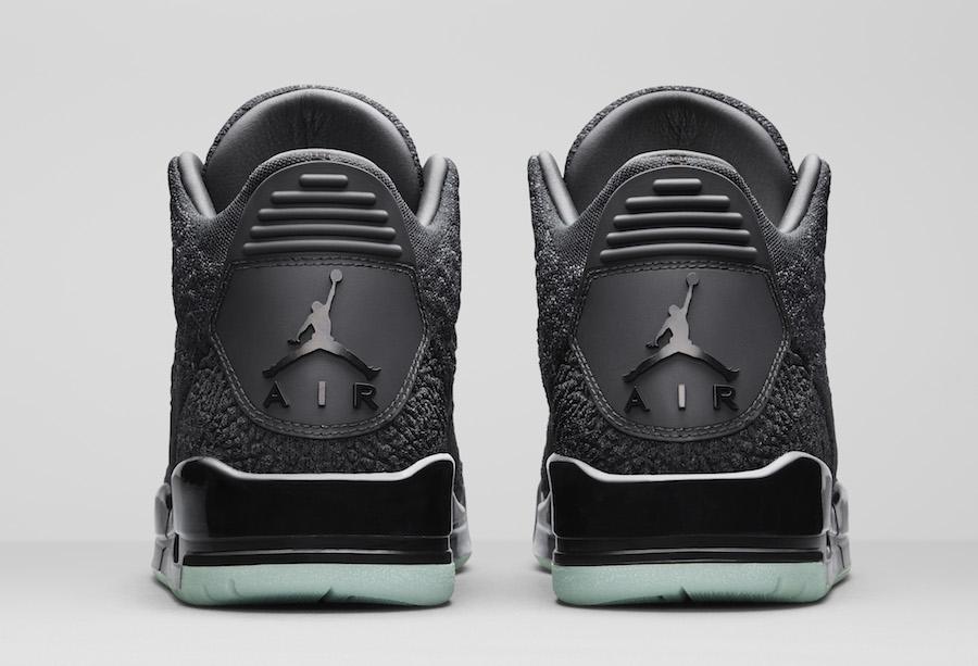 100% authentic 93744 531d8 Air Jordan 3 Flyknit Black