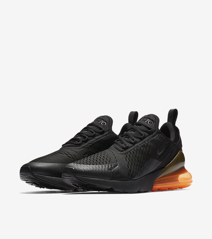 air max 270 orange et noir