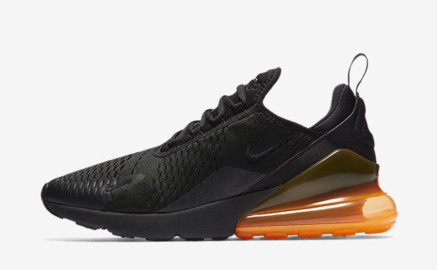 nike 270 noir et orange