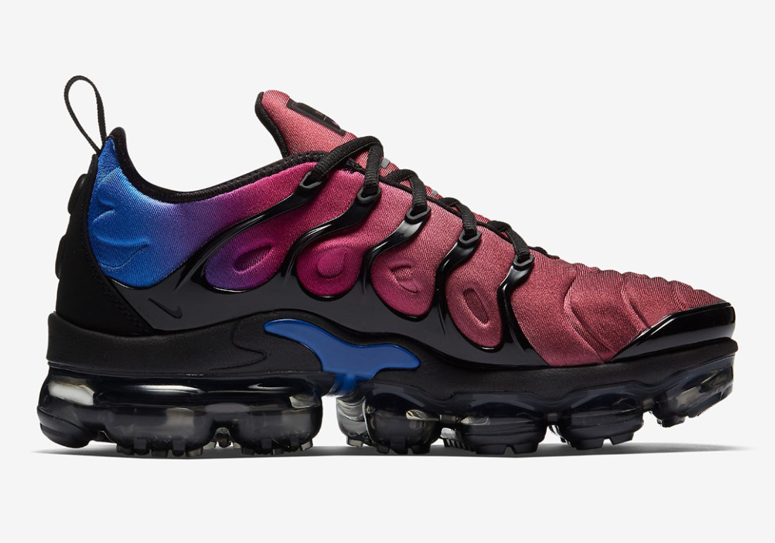 eeca801e89b7 Nike Air VaporMax Plus Black Team Red Violet - Le Site de la Sneaker