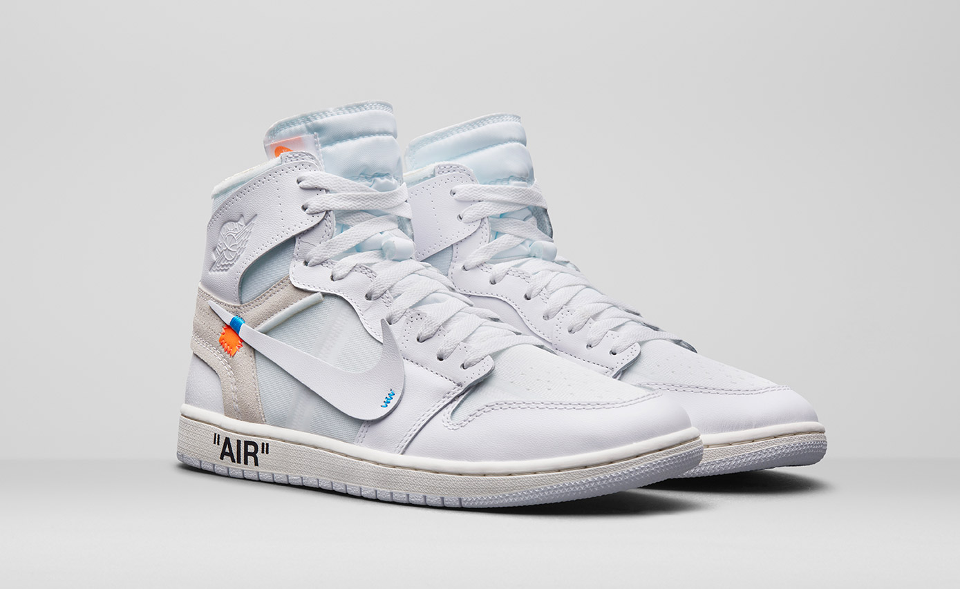 air jordan off white bleu