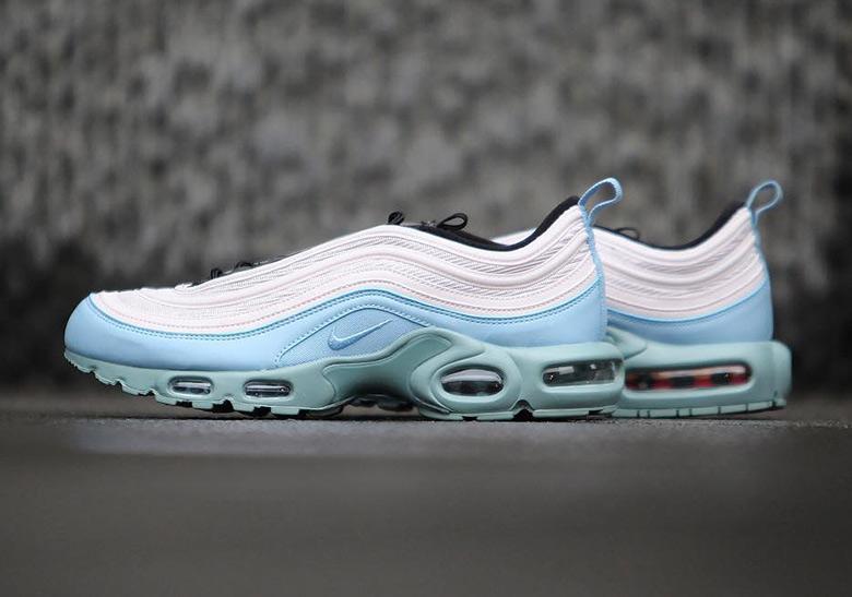 air max 97 plus blue and white