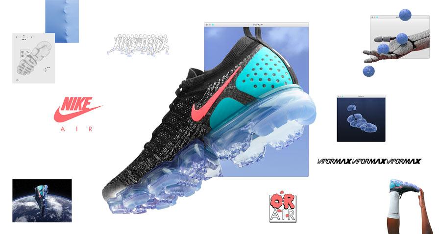 huge discount da08e 723bd Nike Air VaporMax Flyknit 2.0 Black Hot Punch