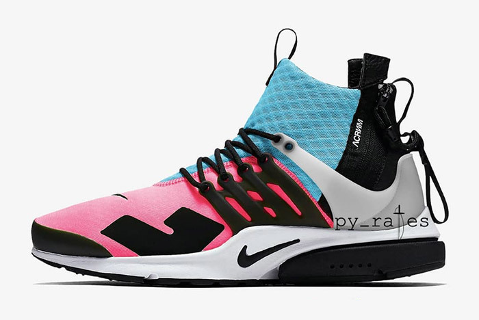 Preview: Acronym x Nike Air Presto Mid Pink Blue Le Site